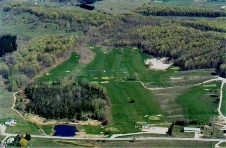 Mallard Golf Club of East Jordan, Michigan, aerial view